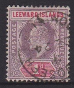 Leeward Islands Sc#21 Used Postmark  Cancel St Joseph