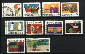 Can #519-23,25-28,530  u   VF 1970 PD