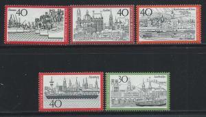 GERMANY SC# 1106-10 F-VF OG 1973