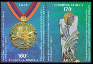 2018 Armenia 1087-1088Paar Armenian State Prize for Technology
