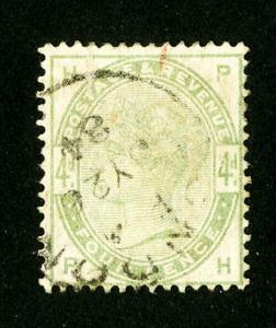 Great Britain Stamps # 103 VF Used Scott Value $210.00