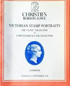 Auction Catalogue VICTORIAN STAMP PORTRAITS - The Clive Collection