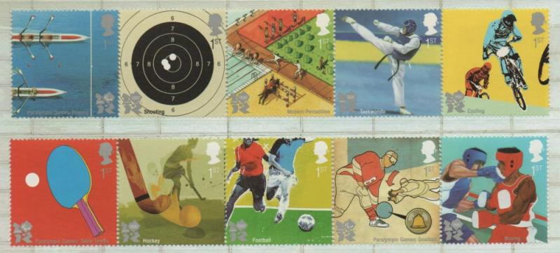 Great Britain Sc 2815-24 2010 Olympics stamp set mint NH