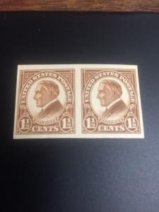 631 Flat Gum  Rotary Press Pair MNH Without The Normal Gum Breaker Lines.