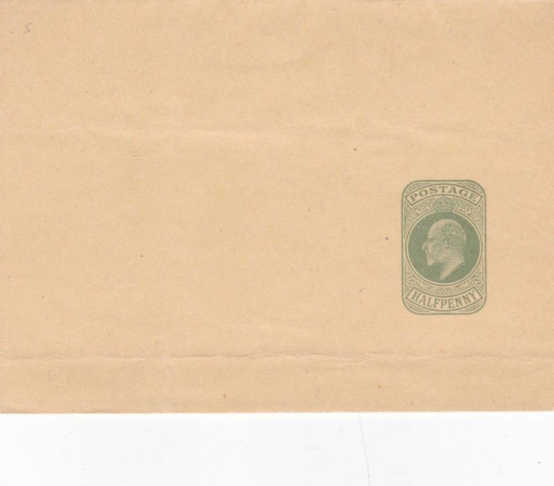 King Edward VII 1/2d Prepaid Envelope Unused VGC
