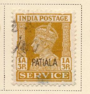 Indian States Patiala 1940-45 Early Issue Fine Used 1a.3p. Optd 084690