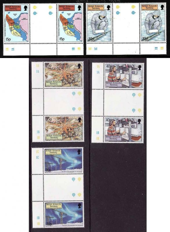 British Antarctic Territory-Sc #280-4-set-Survey discoveries