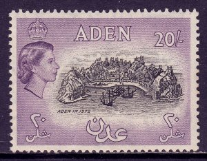 Aden - Scott #61A - MNH - Two diagonal creases, lt. gum toning - SCV $60