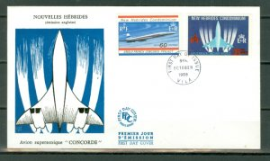 NEW HEBRIDES BRITISH...CONCORDE #130-131..SET on FDC