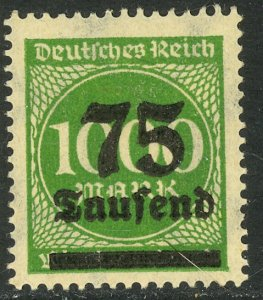 GERMANY 1923 75th m on 1000m Inflation Issue Sc 252 MNH
