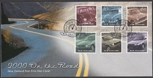 NEW ZEALAND 2000 On the Road - old cars - commem FDC........................L521