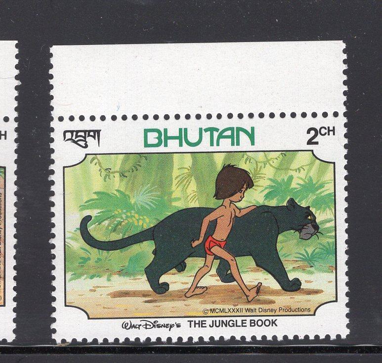 Mnh The Jungle Book Animals Disney Eu Bhutan