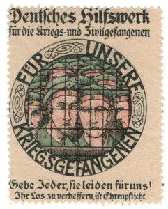 (I.B-CKK) Germany (Great War) Cinderella : Prisoner of War Fund