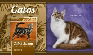 Guinea-Bissau - 2019 Cat Breeds on Stamps - Stamp Souvenir Sheet - GB190401b