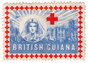(I.B) British Guiana Cinderella : Red Cross War Charity Stamp