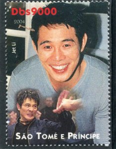 Sao Tome & Principe 2004 JET LI Chinese Actor 1v Perforated Mint (NH)