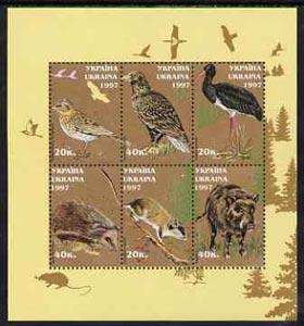 Ukraine MNH S/S Birds & Animals 1997