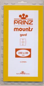 Prinz Stamp Mount 89/240 mm - CLEAR (Pack of 10) (89x240  89mm)  STRIP