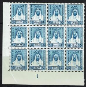 Bahrain SG# L10, Mint Never Hinged, Blk of 12, visible corner crease- Lot 021217