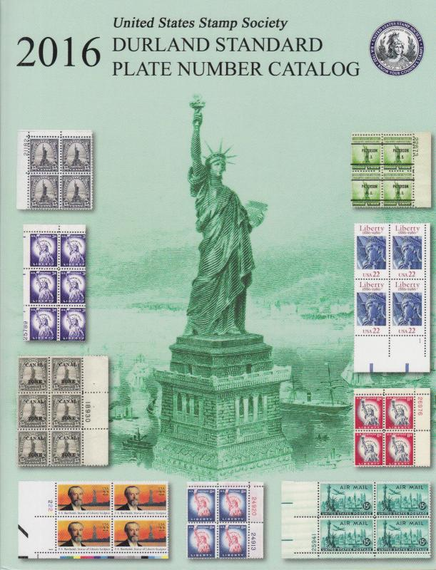 Durland 2016 Standard Plate Number Catalog, Perfect Bound, New