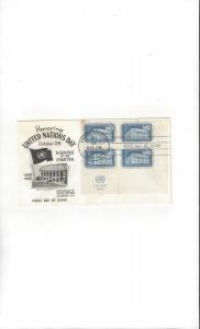 United Nations 12 UN Day  FDC Fleetwood Cachet