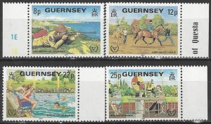 Guernsey  232-5  MNH  Year of Disabled Person