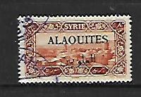 ALAOUITES, 28, USED, STAMPS OF SYRIA 1925 OVPTD