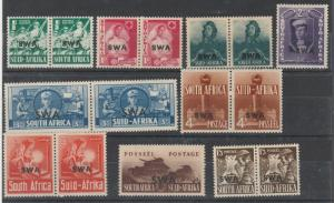SOUTH WEST AFRICA 1941 WAR SET PAIRS */**