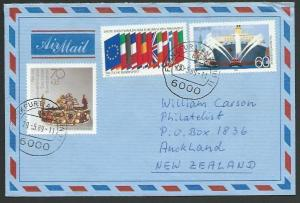 GERMANY 1989 airmail cover to New Zealand - nice franking..................11237