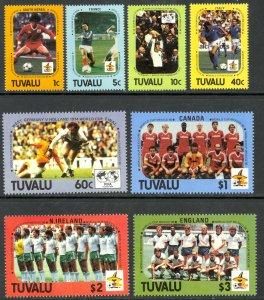 TUVALU 1986 WORLD CUP SOCCER MEXICO Set Sc 364-371 MNH