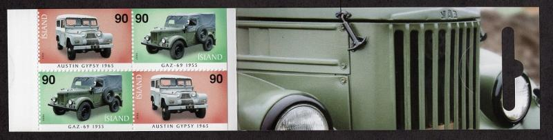 Iceland  #1072c  2006  MNH booklet general purpose vehicles  4x90k