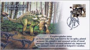 2015, Canada FDC, Dinos of Canada, Euoplocephalus Tutus, 15-004