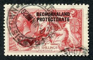 Bechuanaland SG84 5/- Waterlow Seahorse Fine used cat 375 pounds