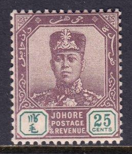 Malaya (Johore) - Scott #66 - MLH - SCV $8.50