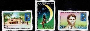 NAURU Scott 105-107 MNH** stamp set