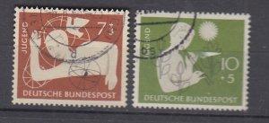 J28718, 1956 germany set used #b348-9