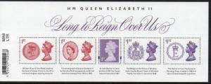 Great Britain Sc MH456 2015 Reign of QE II stamp souvenir sheet mint NH