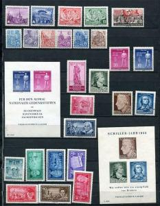 Germany 1955 Mi 447-509 MNH/MH Complete Year (-9 stamps)+3 Blocks Mi 11-3 2501