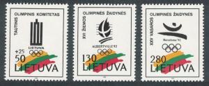 Lithuania Winter Olympic Games Albertville 3v SG#501-503