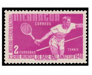 STAMP FROM NICARAGUA YEAR 1949. SCOTT # 729
