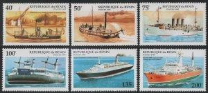 1995 Benin 631-636 Ships 4,60 €