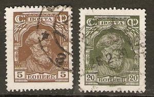 Russia 386, 395 Mi 342, 349 Used VF 1927 SCV $1.65