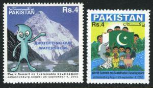 Pakistan 994-995, MNH. World Summit on Sustainnable development, 2002