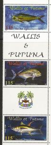 Wallis and Futuna Islands 533 2000 Fish Strip NH
