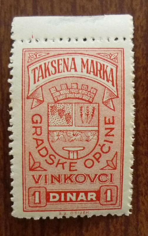 Croatia in Yugoslavia Local Revenue Stamp VINKOVCI! J46