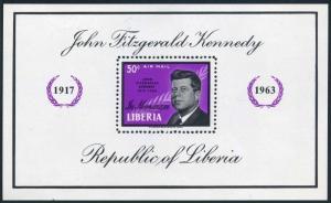 Liberia C161,C161 imperf,MNH.Michel 618 Bl.29A-29B. President John Kennedy,1964.