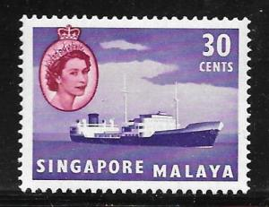 Singapore 38: 30c Oil tanker, MH, F-VF