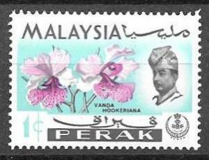 Malaysia Perak 1c Flower issue of 1965, Scott 139 MNH