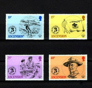 ASCENSION - 1982 - BOY SCOUTS - SCOUTING YEAR - BADEN-POWELL - MINT - MNH SET!