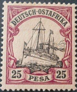 German East Africa 1901 25 Pesa Michel 17 mint